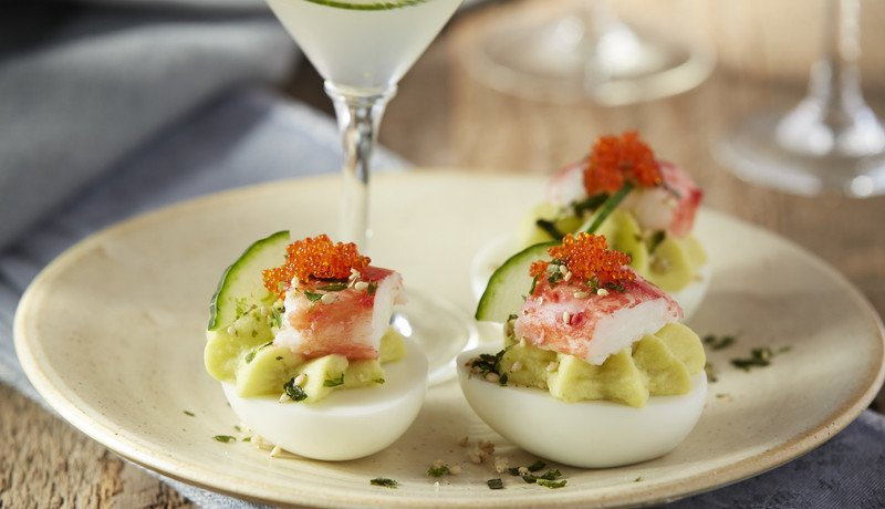 California Roll Deviled Eggs