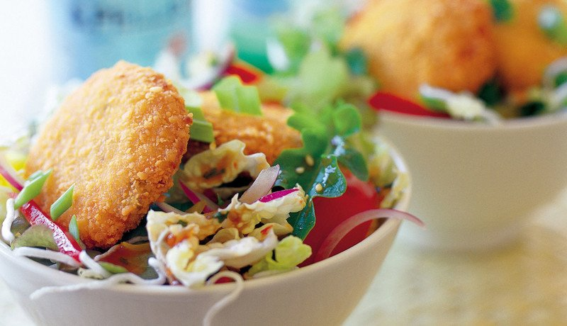 Chinese Crab Cake Salad