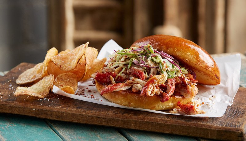 Pulled BBQ King Crab Sandwich